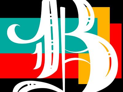 OldEnglish B vector logo design type illustrator