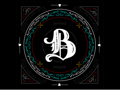 Bandana vector branding typography design type illustrator