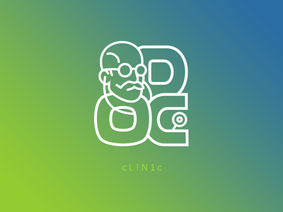 DOC dr medico physician doctor doc clinic logo