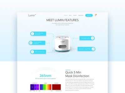 Cleaner Device Product Page features page product page website device product white clean light minimal site web
