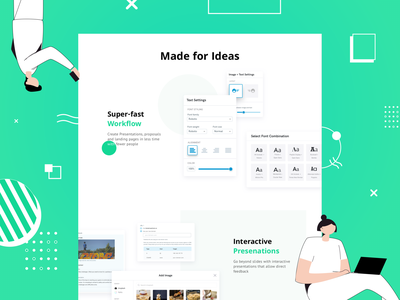Beautiful article-like presentations gallery builder templates pitch webdesign landing illustration animation subject briefing job boards press kit event pages diagram document portfolio presentation