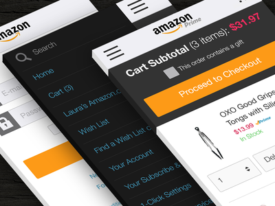 Amazon Mobile Web Checkout Flow Concept