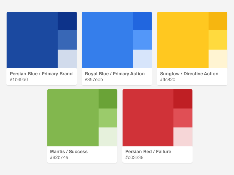 DocuSign Styleguide Colors colors palette styleguide swatches docusign color palette