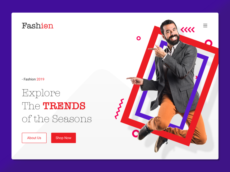 Landing page web design trends website fashion landing page landing