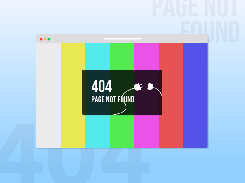 404 Page Not Found daily 100 challenge dailyui color bars 404 error page page not found 404