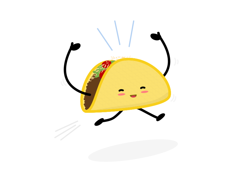 tacos be like by evelio tarazona c u00e1ceres dribbble Eyebrow Clip Art Girl Laughing Clip Art