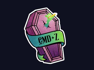 Cmd+Z Halloween draw cmd vector illustration zombie halloween