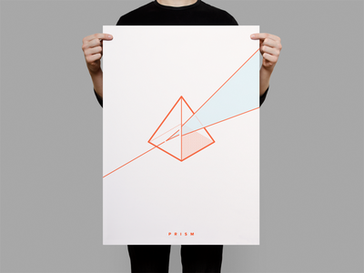 Prism Illustation red lines minimal illustration nutanix prism