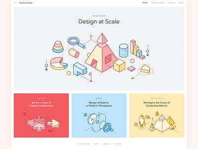 Nutanix Design New Website design team light clean minimal design system nutanix website