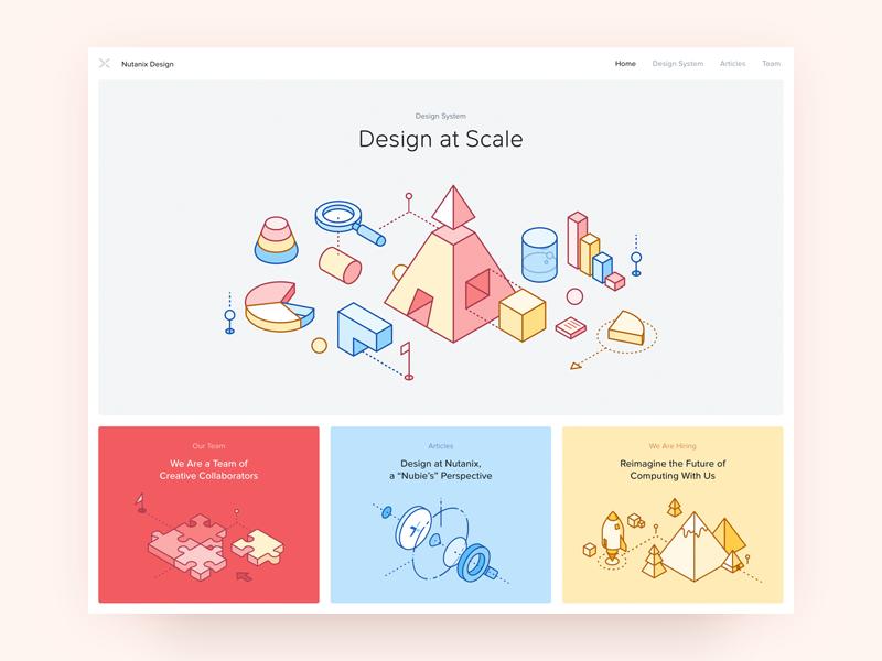 Nutanix design new website