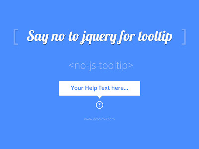 Say no script for tooltip web tooltip css