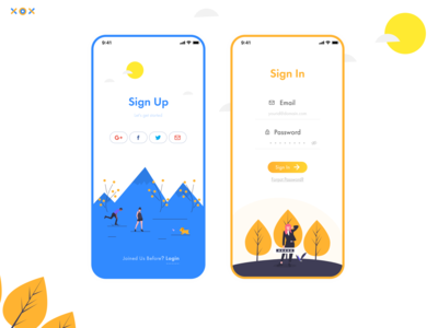 Sign Up, Sign In UI