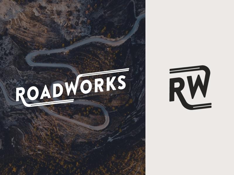 RoadWorks Logo 🏎️ autoblog road automotive logo mark logotype logo design logo
