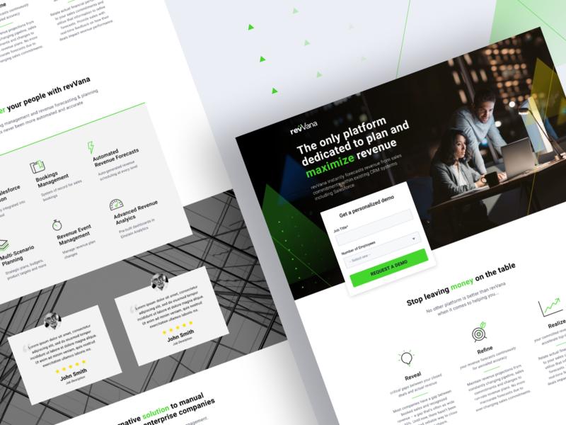 revVana ppc marketing conversion rate optimization conversion design website ui visual design web design ui design ux design landing page