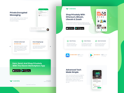 Haven App Landing Page 👾 conversion design website ppc marketing ux ui conversion rate optimization web design landing page ux design ui design