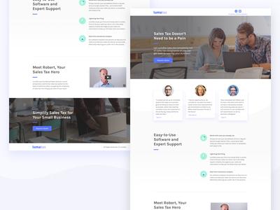 LumaTax | Landing Page graphic design web design ux design taxes ppc marketing ui design visual design landing page