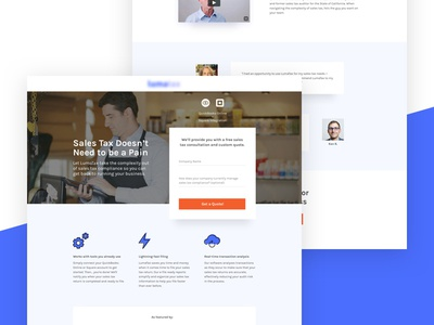 LumaTax | Landing Page Variant graphic design web design ux design taxes ppc marketing ui design visual design landing page