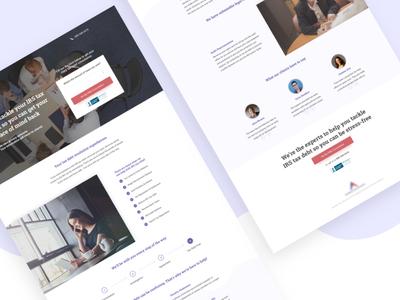 Anthem Tax Service | Landing Page website conversion design graphic design web design ux design taxes ppc marketing ui design visual design landing page