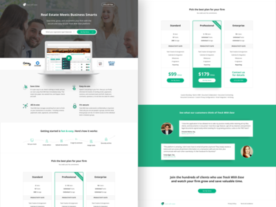 Track With Ease | Landing Page website web design visual design ux design ui design marketing ppc landing page graphic design conversion design