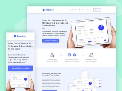 LumaTax Re-Design... Again! graphic design software saas taxes website web design ux design ui design landing page
