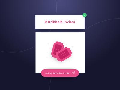 2 Dribbble Invites ticket invitation dribbbleinvite invite dribbble invite