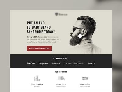 Baby Beard Syndrome Landing Page design web design landing page