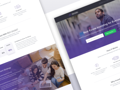 Student Housing Investment | Landing Page visual design call to action website web design graphic design ui design ux design conversion rate optimization landing page