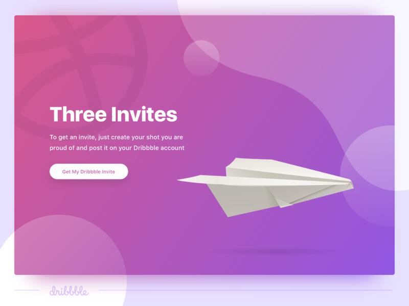 3 Dribbble Invites 🙌 dribbbleinvites freebies dribbble giveaway invites invitation design typography ui visual design ux design web design graphic design ui design