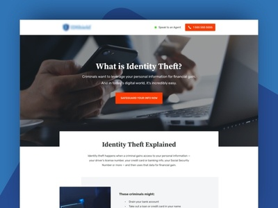 Identity Theft Landing Page