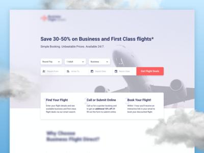 Business & First Class Flight | Landing Page ✈️ conversion rate optimization conversion design website ui visual design ux design landing page web design graphic design ui design