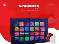 Gradients for illustrator (freebie)
