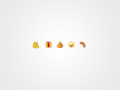 Cute pixels icon icons orange