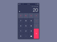 Daily UI challenge #004 — Calculator
