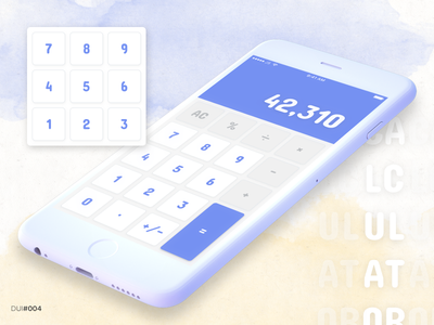 Daily UI #004 - Calculator calculator mobile purple mock-up mockup design ui dailyui