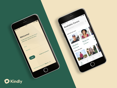 Kindly - Find Care redesign freelance product typography colour design ux ui
