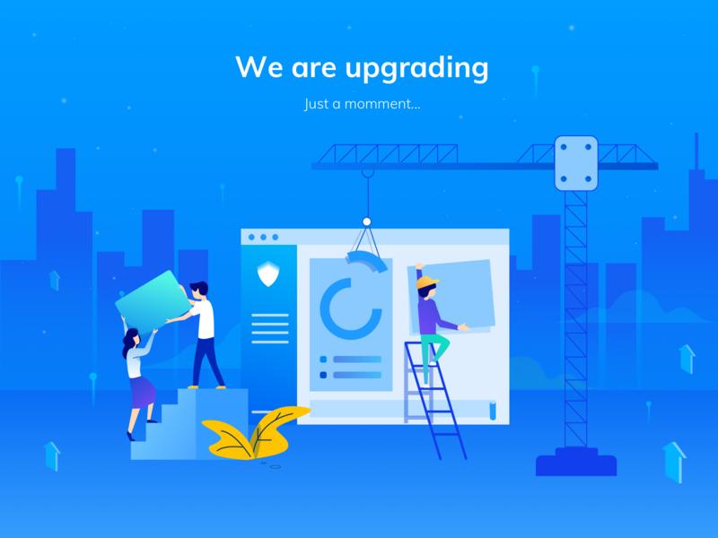 CyStack: Upgrade upgrade application vector design whitehub illustration shamin platform security cystack