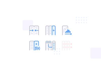Anasen: Web-App Icons (Part 1/8) interface user set study case processing analysis data website web app ui design icon