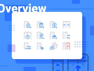 Anasen: Web-App Icons (Part 3/8) brief set study case processing analysis data website web app ui design icon
