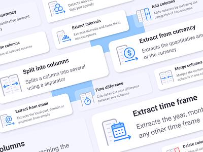 Anasen: Web-App Icons (Part 8+2) action menu card interface user set study case processing analysis data website web app ui design icon