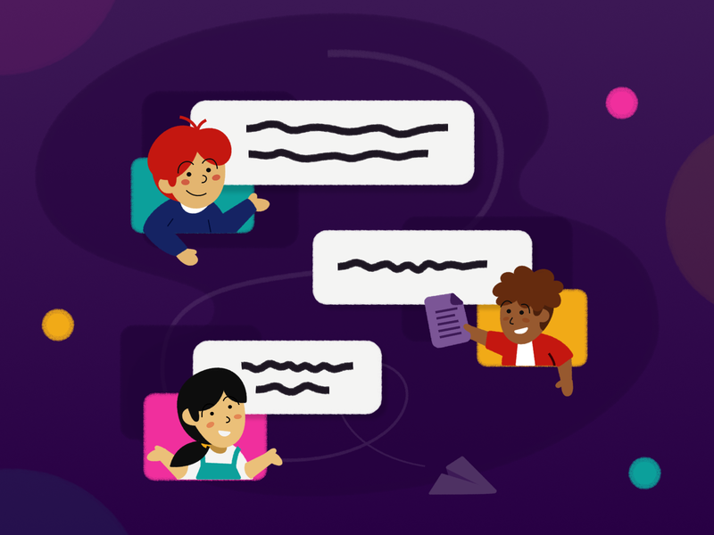 Team chatroom... web collaboration discussion group team app chat app chat design illustration fajr fitr