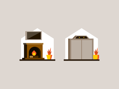More features living room architecture interior building home house real estate lift fireplace illustration spot illustration spot icon pictogram iconography icon design icon
