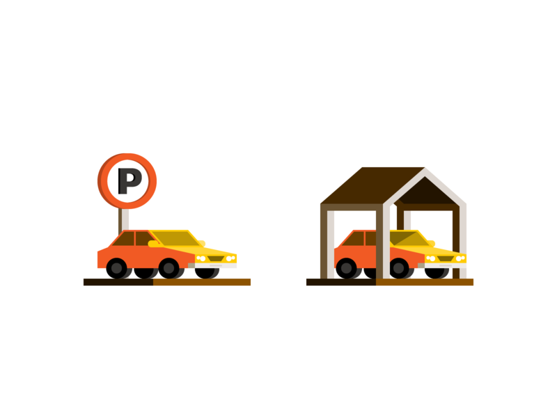 Parking space vehicle transportation infrastructure car parking lot illustration spot illustration spot icon iconography icon design icon
