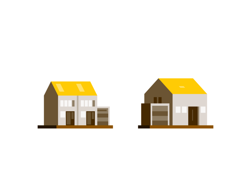 Tiny houses real estate rent property building home house iconography icon design icon