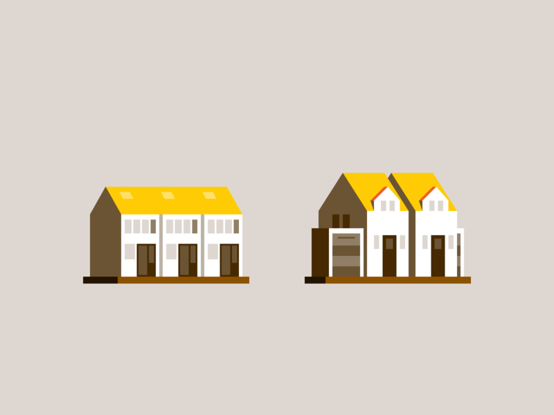 Tiny houses again... property building real estate home house illustration spot illustration spot icon pictogram iconography icon design icon