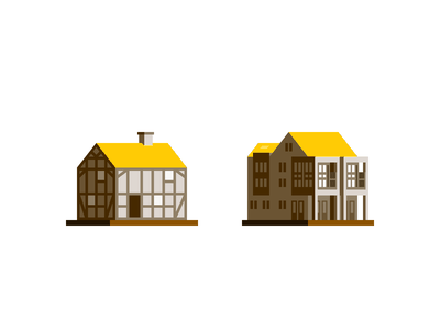 More tiny buildings property real estate architecture building home house spot illustration spot icon icon design iconography icon