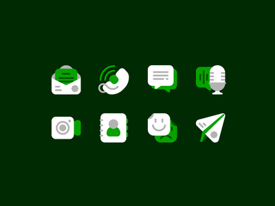 Communication fajrfitr fajr fitr fajrul fitrianto video spot icon stickers app paper plane emoji contact voice note podcast chat phone email communication flat icon set icon design icon