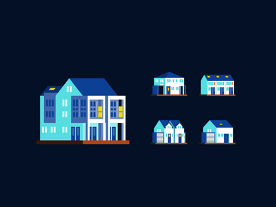 Real estate: Buildings store commerce office house home flat architecture property building real estate illustration spot illustration spot icon iconography icon design icon