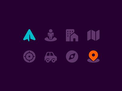 Maps & navigation travel compass fajrfitr fajr fitr fajrul fitrianto transportation pin location direction app gps map navigation glyph solid pictogram iconography icon icon design