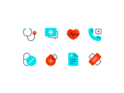 Medical & healthcare first aid kit blood health app doctor medicine medical care health hospital healthcare medical fajrfitr fajr fitr fajrul fitrianto ui user interface pictogram iconography icon set icon design icon