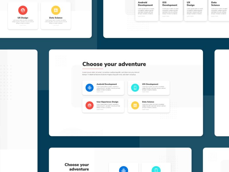 EXPLORATION-03: Online Course Menu Section e-learning education website web design ui interface landing page homepage feature menu course online